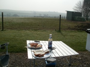 Morning Breakfast cooked and eaten outside...